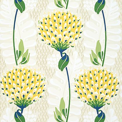 Thibaut Tiverton Wallpaper in Yellow
